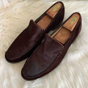 Billy Reid Brown Pony Hair Loafers Sz-11
